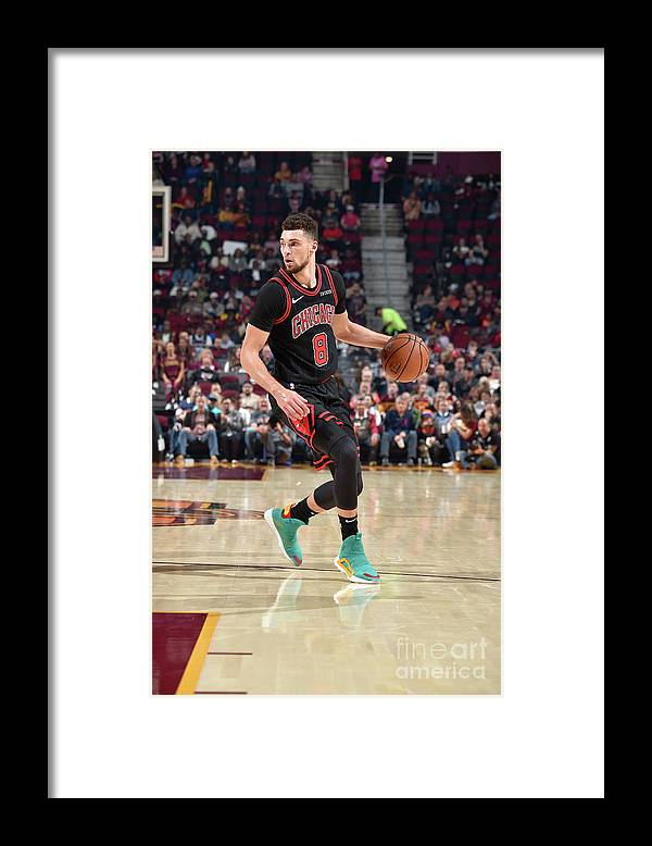 Chicago Bulls Framed Print featuring the photograph Zach Lavine by David Liam Kyle