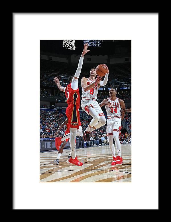 Chicago Bulls Framed Print featuring the photograph Zach Lavine by Layne Murdoch Jr.
