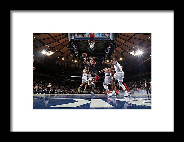 Chicago Bulls Framed Print featuring the photograph Zach Lavine by Nathaniel S. Butler