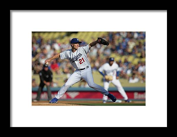 California Framed Print featuring the photograph Zack Greinke by Paul Spinelli
