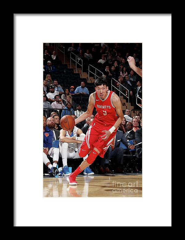 Nba Pro Basketball Framed Print featuring the photograph Zhou Qi by Nathaniel S. Butler
