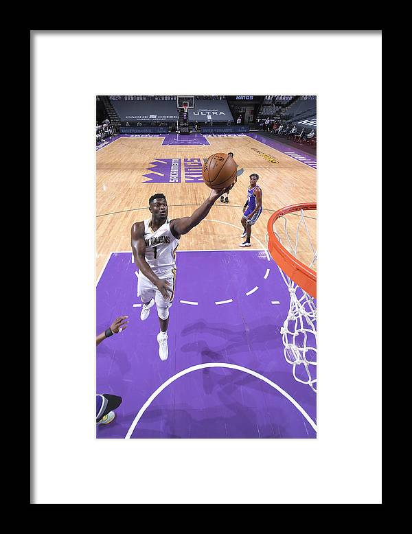Nba Pro Basketball Framed Print featuring the photograph Zion Williamson by Rocky Widner