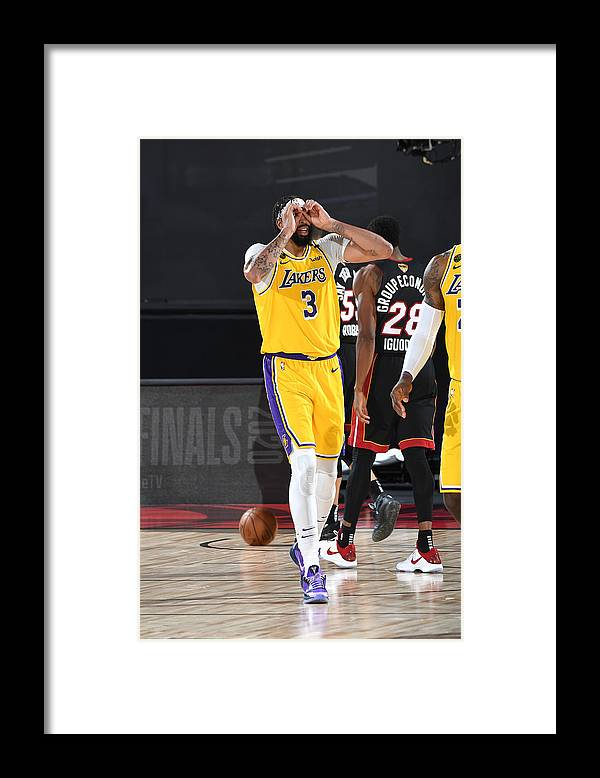 Playoffs Framed Print featuring the photograph Anthony Davis by Andrew D. Bernstein