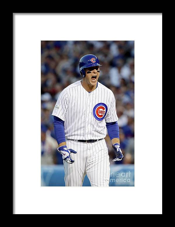 Three Quarter Length Framed Print featuring the photograph Anthony Rizzo by Jonathan Daniel