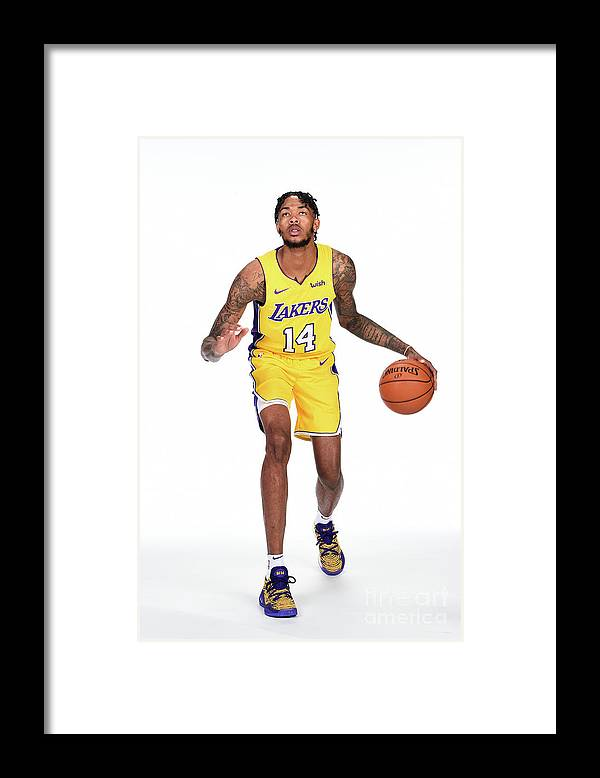 Media Day Framed Print featuring the photograph Brandon Ingram by Andrew D. Bernstein