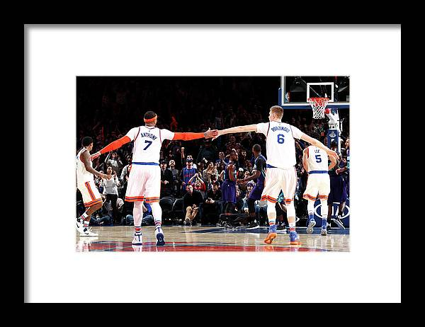 Nba Pro Basketball Framed Print featuring the photograph Carmelo Anthony by Nathaniel S. Butler