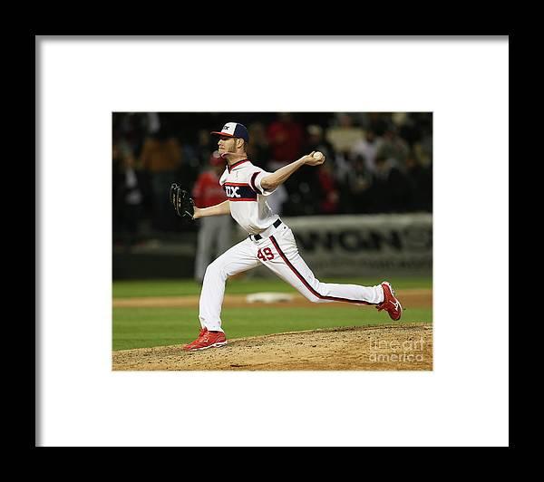 American League Baseball Framed Print featuring the photograph Chris Sale by Jonathan Daniel
