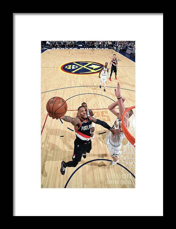 Playoffs Framed Print featuring the photograph Damian Lillard by Garrett Ellwood