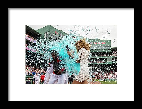 Three Quarter Length Framed Print featuring the photograph David Ortiz by Billie Weiss/boston Red Sox