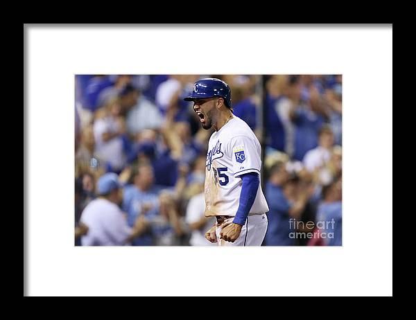 Playoffs Framed Print featuring the photograph Eric Hosmer by Ed Zurga