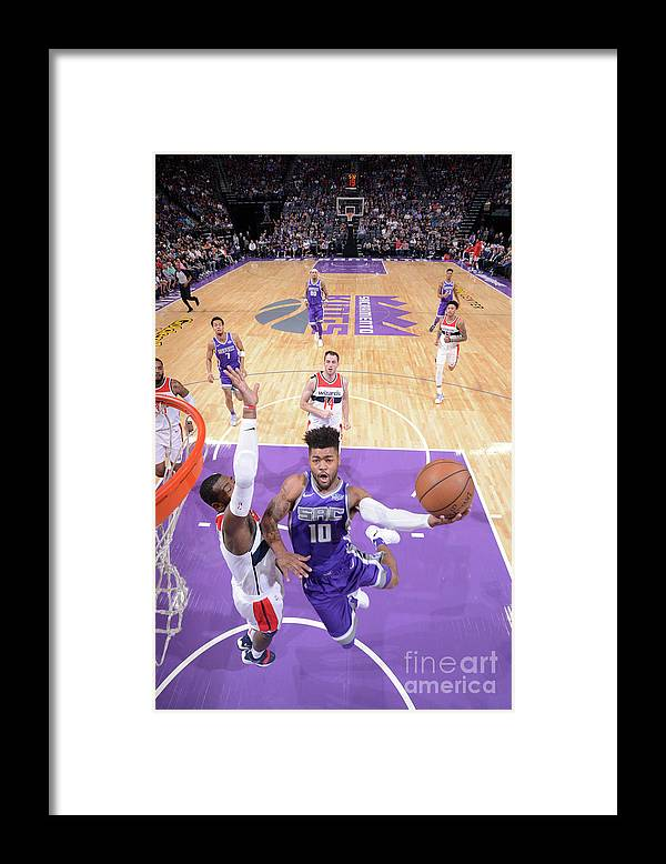 Nba Pro Basketball Framed Print featuring the photograph Frank Mason by Rocky Widner