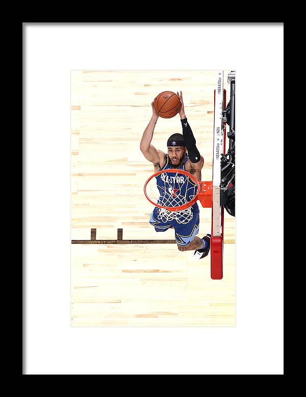 Nba Pro Basketball Framed Print featuring the photograph Jayson Tatum by Nathaniel S. Butler