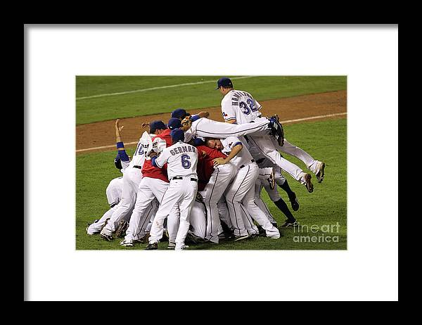 Playoffs Framed Print featuring the photograph Josh Hamilton by Ronald Martinez