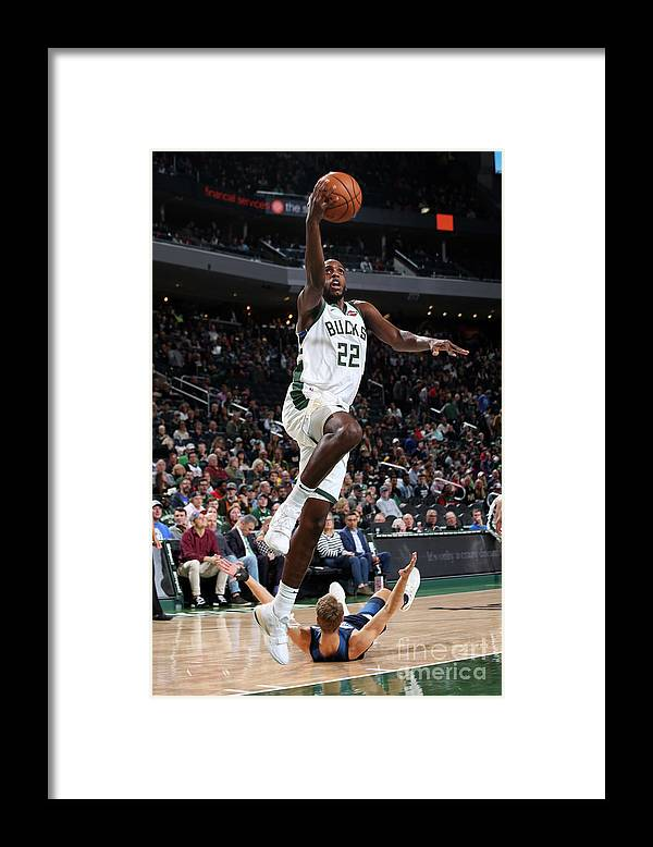 Nba Pro Basketball Framed Print featuring the photograph Khris Middleton by Gary Dineen