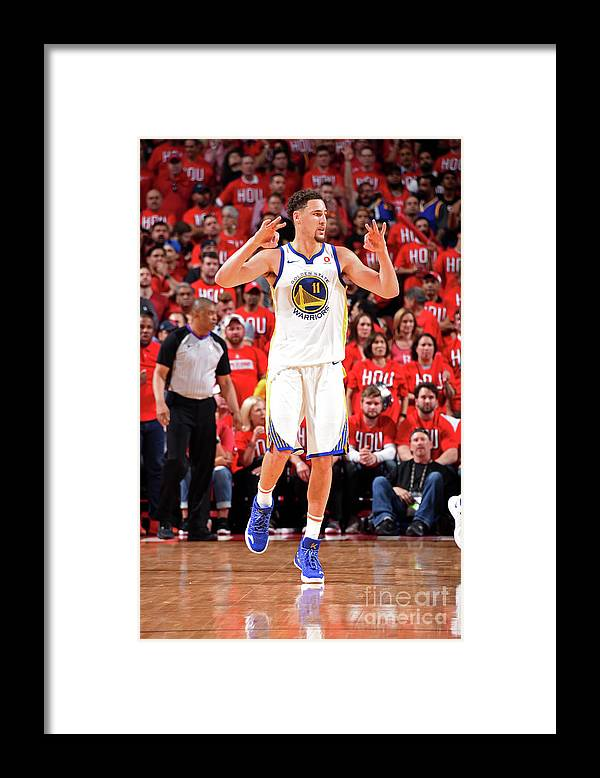 Playoffs Framed Print featuring the photograph Klay Thompson by Andrew D. Bernstein