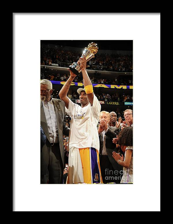 Following Framed Print featuring the photograph Kobe Bryant by Andrew D. Bernstein