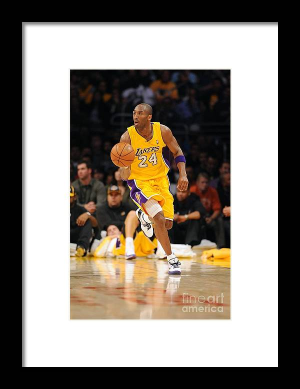 Upcourt Framed Print featuring the photograph Kobe Bryant by Noah Graham