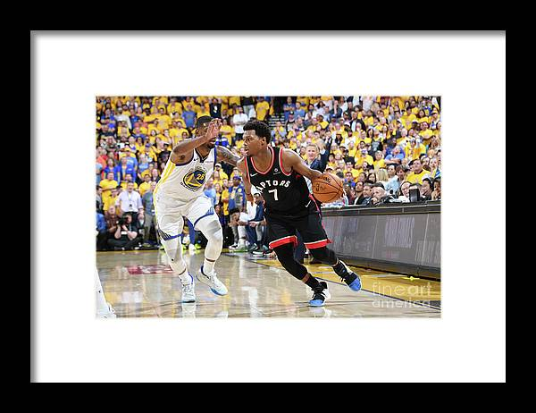 Playoffs Framed Print featuring the photograph Kyle Lowry by Andrew D. Bernstein