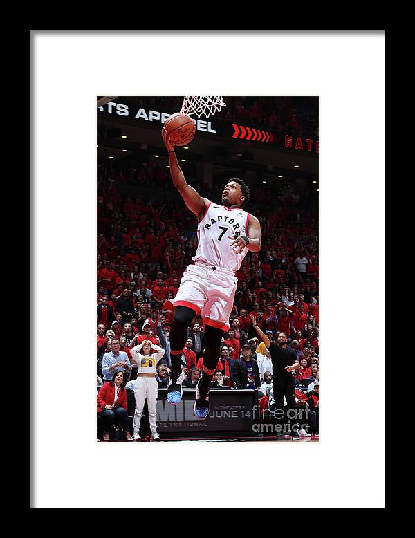 Playoffs Framed Print featuring the photograph Kyle Lowry by Nathaniel S. Butler