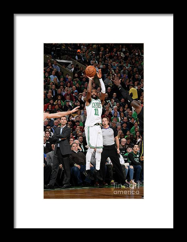 Nba Pro Basketball Framed Print featuring the photograph Kyrie Irving by Brian Babineau