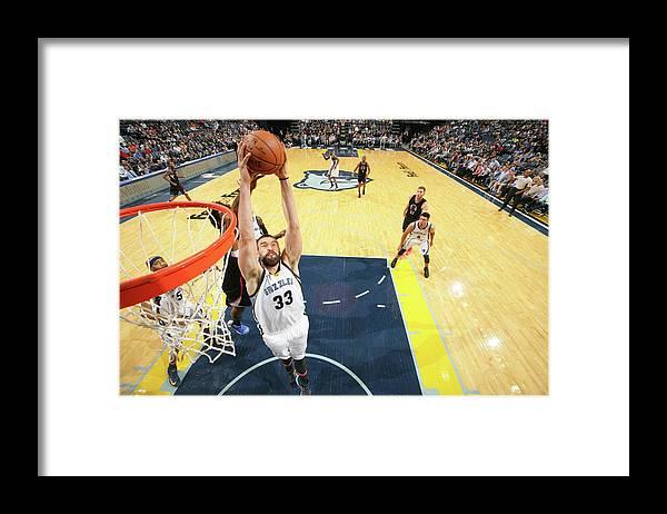 Nba Pro Basketball Framed Print featuring the photograph Marc Gasol by Joe Murphy