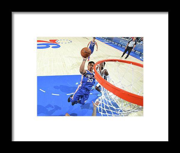 Sports Ball Framed Print featuring the photograph Markelle Fultz by Jesse D. Garrabrant
