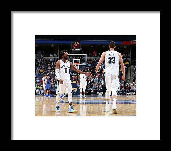Nba Pro Basketball Framed Print featuring the photograph Mike Conley by Joe Murphy
