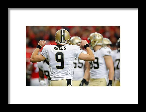 Atlanta Framed Print featuring the photograph New Orleans Saints v Atlanta Falcons by Kevin C. Cox