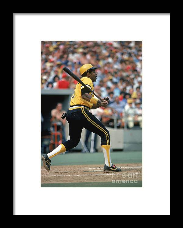 Motion Framed Print featuring the photograph Willie Stargell by Rich Pilling