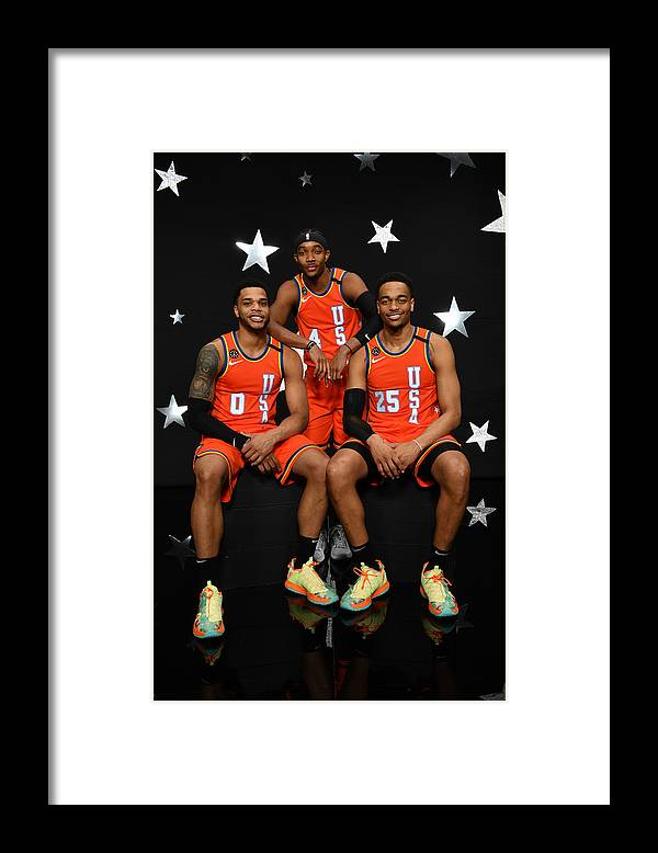 Nba Pro Basketball Framed Print featuring the photograph 2020 NBA All-Star - Rising Stars Game by Jesse D. Garrabrant