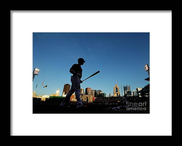 Second Inning Framed Print featuring the photograph Andrew Mccutchen by Jared Wickerham