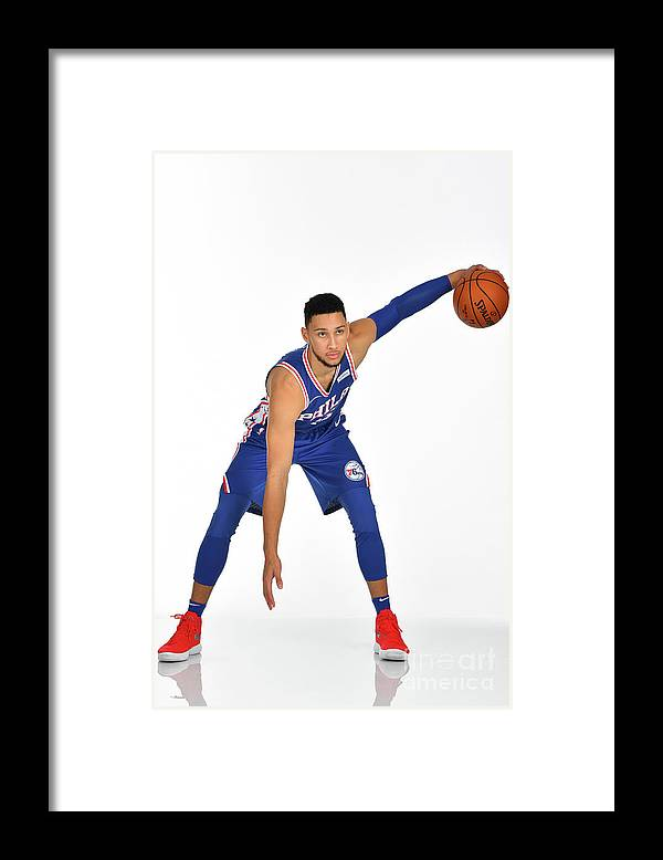 Media Day Framed Print featuring the photograph Ben Simmons by Jesse D. Garrabrant