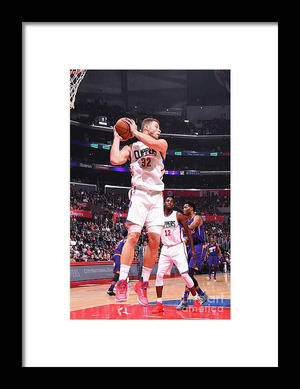 Nba Pro Basketball Framed Print featuring the photograph Blake Griffin by Juan Ocampo