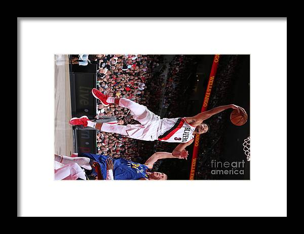 Nba Pro Basketball Framed Print featuring the photograph C.j. Mccollum by Sam Forencich