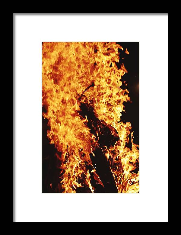 Campfire Framed Print featuring the photograph Closeup of Fire at time of festival by Ravindra Kumar