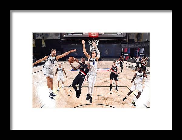 Nba Pro Basketball Framed Print featuring the photograph Damian Lillard by Garrett Ellwood