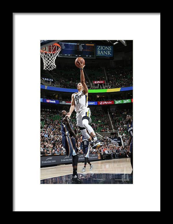 Nba Pro Basketball Framed Print featuring the photograph Dante Exum by Melissa Majchrzak