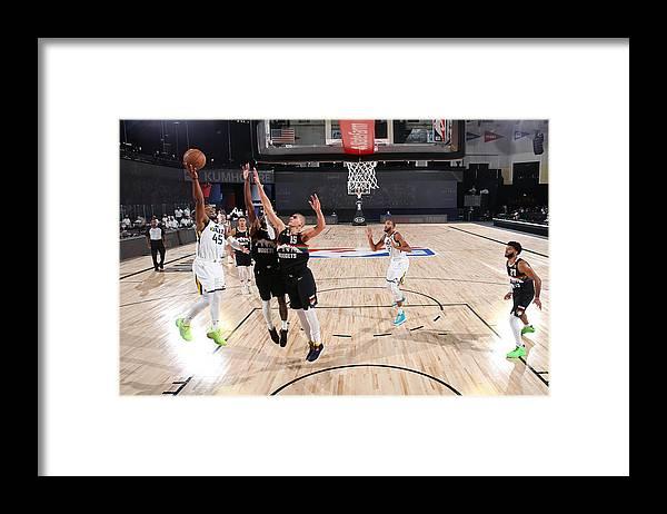 Playoffs Framed Print featuring the photograph Donovan Mitchell by Jesse D. Garrabrant