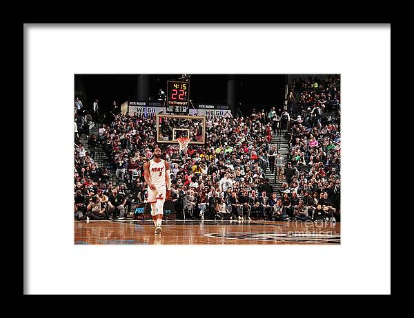 Nba Pro Basketball Framed Print featuring the photograph Dwyane Wade by Issac Baldizon