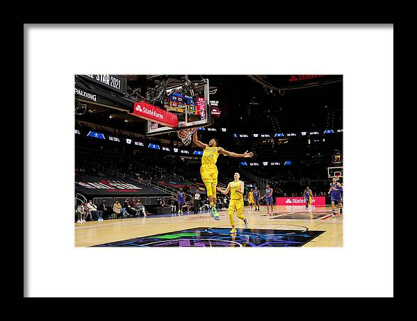 Atlanta Framed Print featuring the photograph Giannis Antetokounmpo by Jesse D. Garrabrant