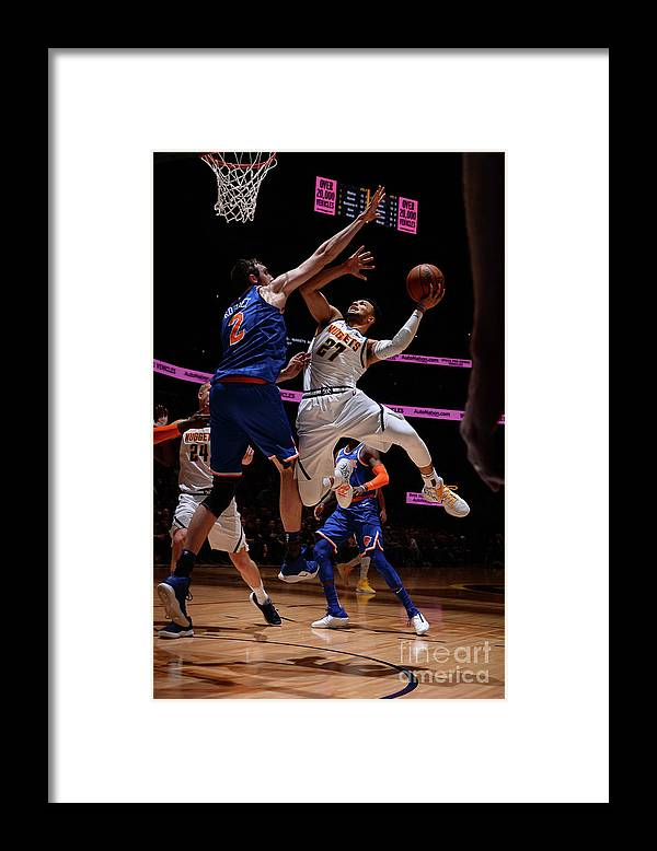 Nba Pro Basketball Framed Print featuring the photograph Jamal Murray by Bart Young