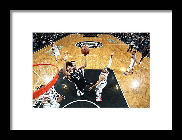 Playoffs Framed Print featuring the photograph Jarrett Allen by Nathaniel S. Butler