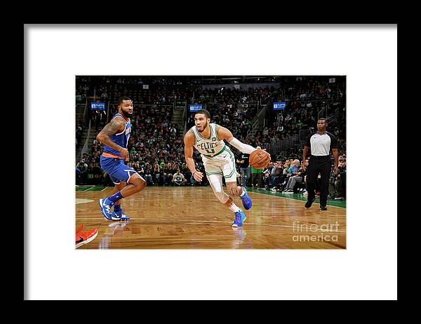Nba Pro Basketball Framed Print featuring the photograph Jayson Tatum by Brian Babineau