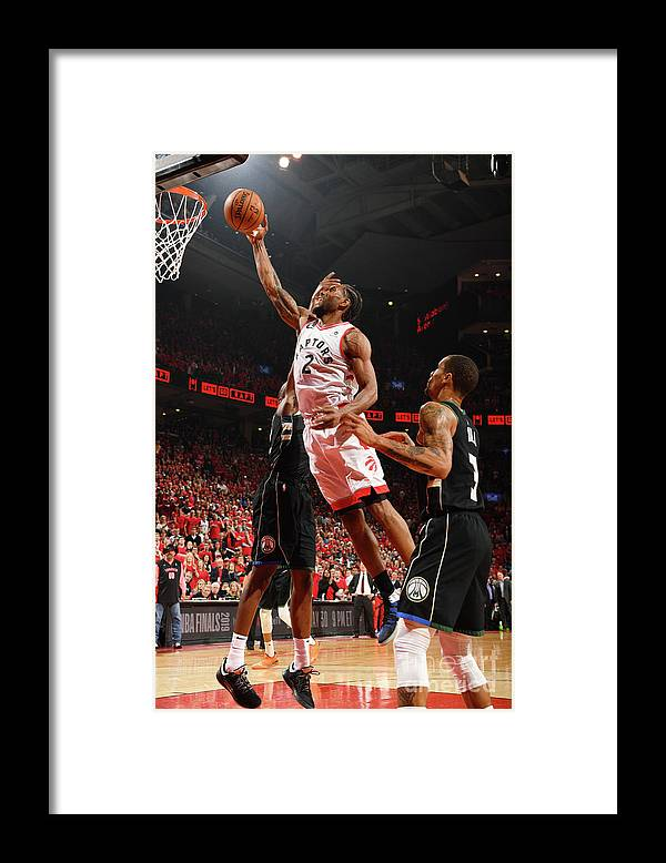 Nba Pro Basketball Framed Print featuring the photograph Kawhi Leonard by Ron Turenne