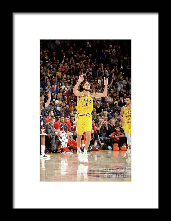 Nba Pro Basketball Framed Print featuring the photograph Klay Thompson by Noah Graham