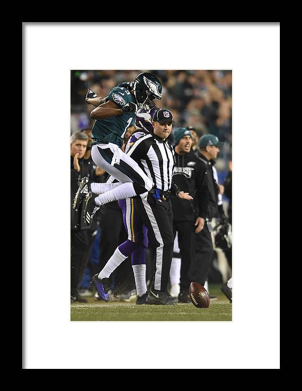 Playoffs Framed Print featuring the photograph NFL: JAN 21 NFC Championship Game - Vikings at Eagles by Icon Sportswire