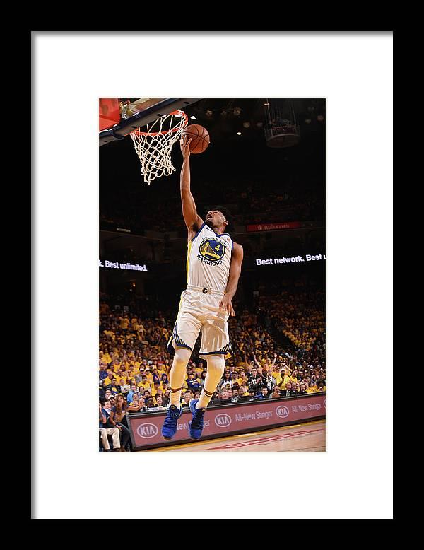 Playoffs Framed Print featuring the photograph Quinn Cook by Noah Graham