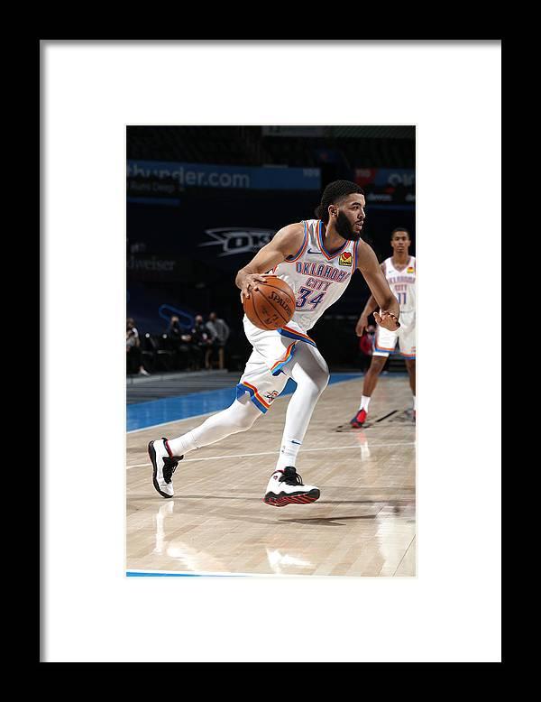 Nba Pro Basketball Framed Print featuring the photograph San Antonio Spurs v Oklahoma City Thunder by Zach Beeker