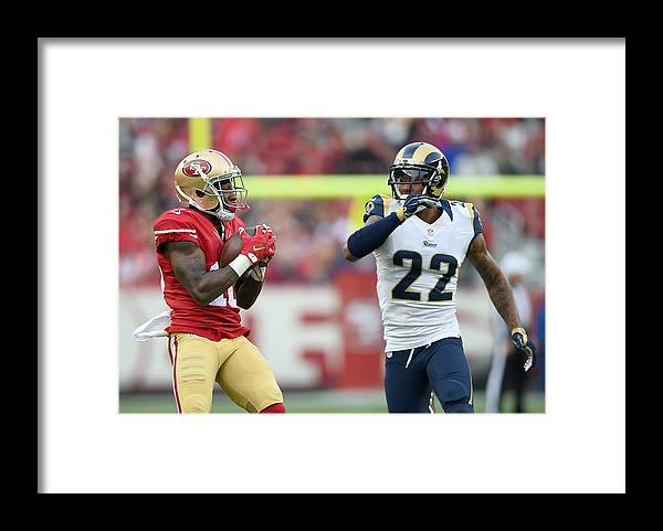 Levi's Framed Print featuring the photograph St Louis Rams v San Francisco 49ers by Thearon W. Henderson