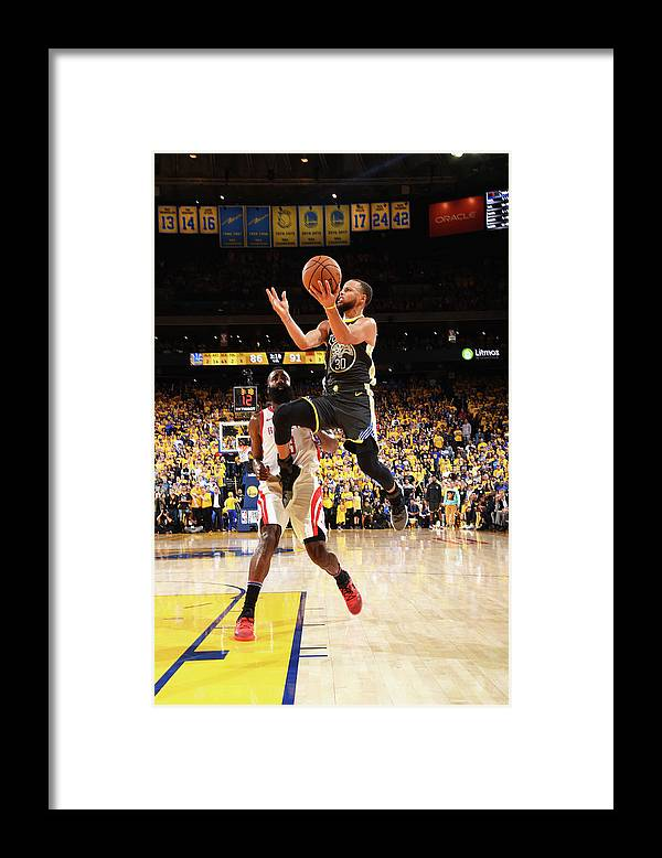 Toddler Framed Print featuring the photograph Stephen Curry by Andrew D. Bernstein